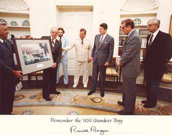 Meeting w President Reagan